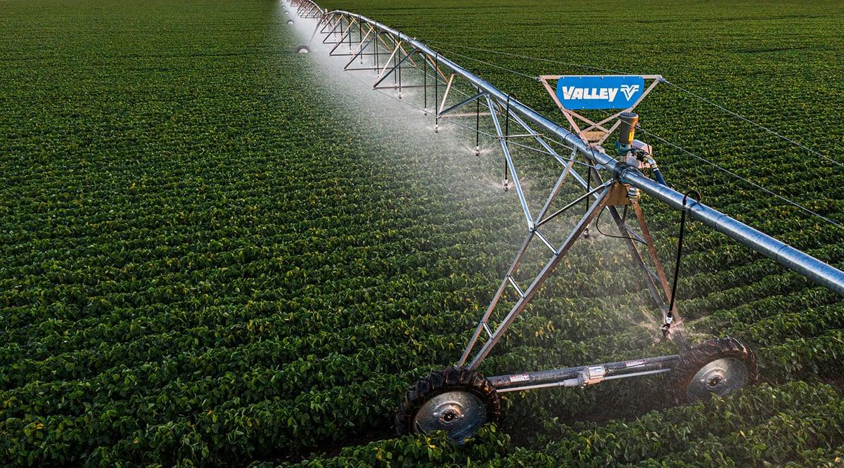 Valley Irrigation Center Pivot in Field