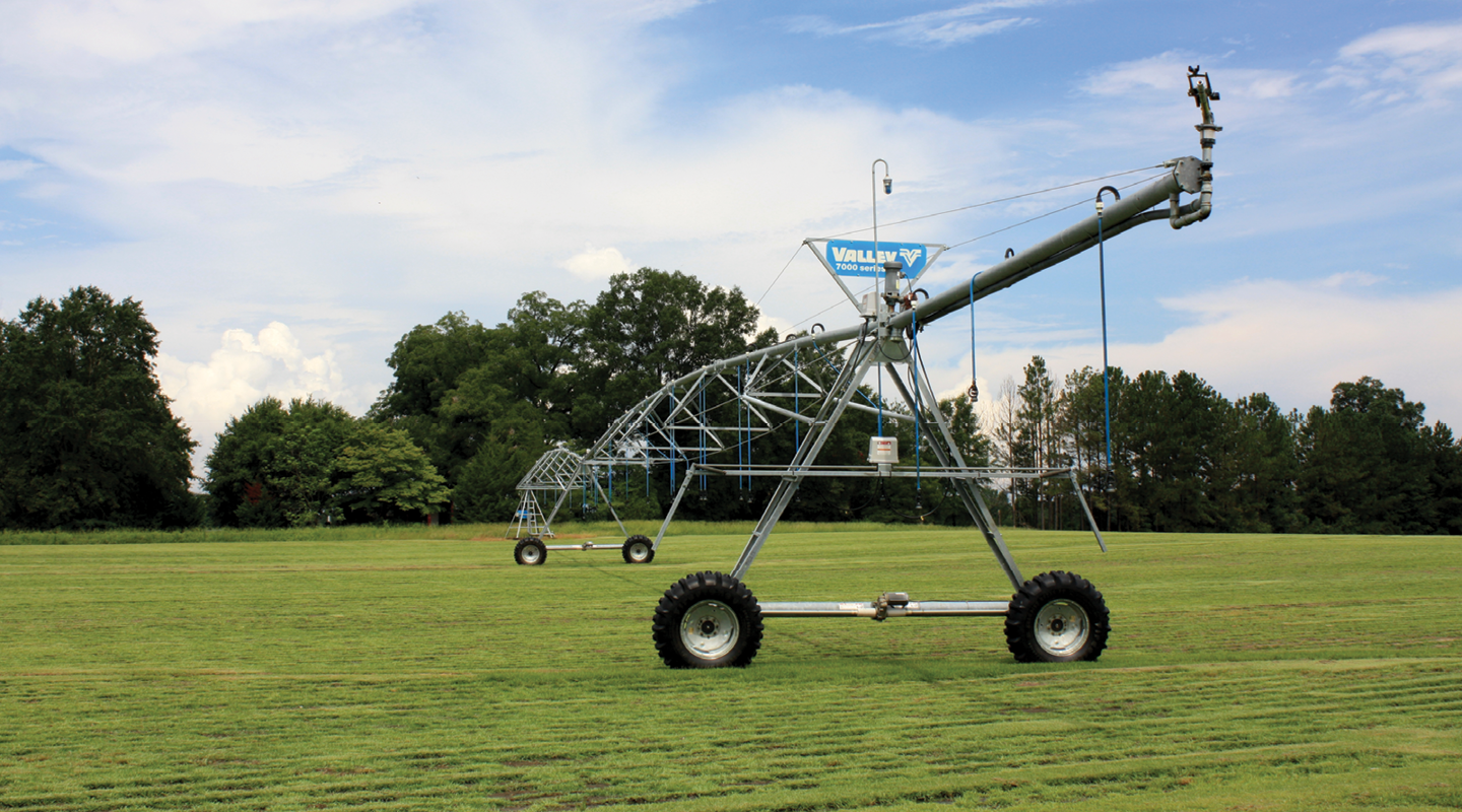 valley center pivot on sod - control technology