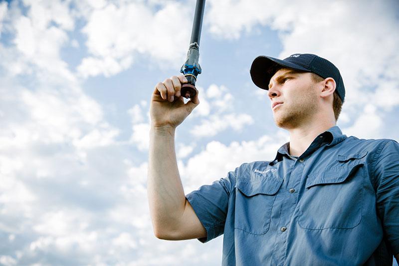 Inspecting Center Pivot Sprinkler Packages